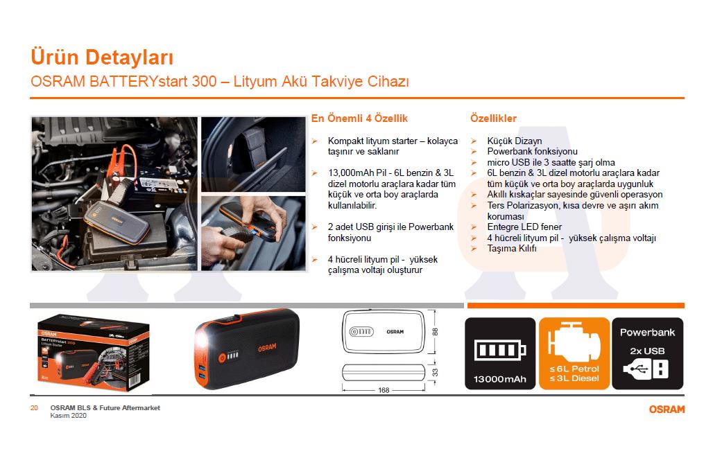 Osram Akü Takviye Cihazı 300 OBSL300