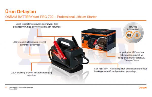 Osram Akü Takviye Cihazı PRO 700 OEBSPL700