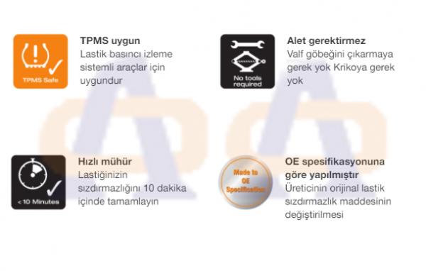 Osram Lastik Tamir Likiti TyreSeal450  OTSB450